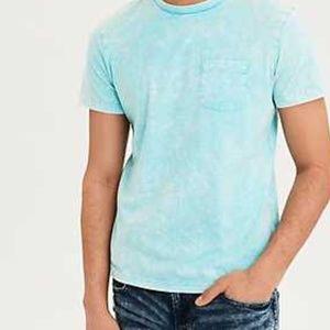 AE Short Sleeve Acid Wash Pocket T-Shirt